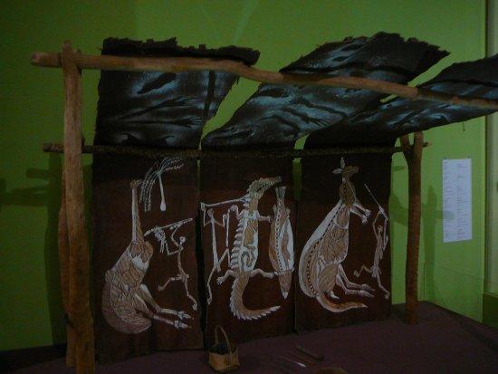 Museum & Art Gallery of the Northern Territory: Aboriginal art on bark.