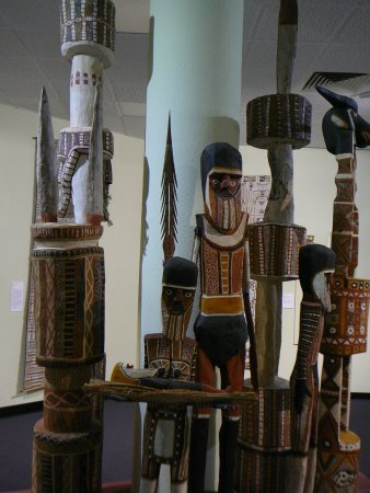 Museum & Art Gallery of the Northern Territory: Aboriginal totem poles.