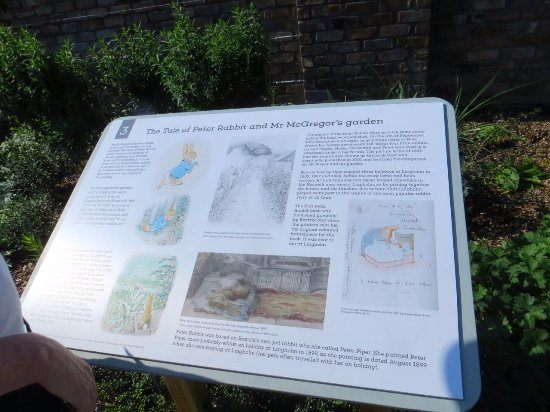 Portinscale, UK : Beatrix Potter information in walled garden 3
