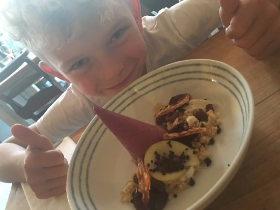St Agnes, UK: Not your average blackberry crumble gets the thumbs up