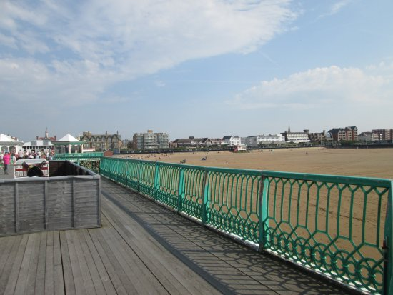Lytham St Anne, UK: View from end of pier