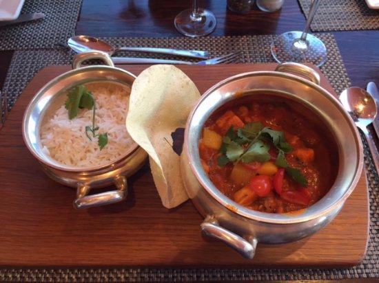 Franschhoek, Zuid-Afrika: Prawn and chicken curry