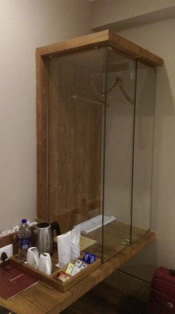 the glass wardrobe was different looking