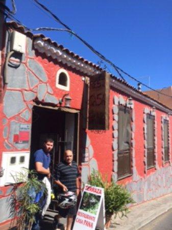Vilaflor, España: Foto de la entrada para que ni se les ocurra comer aquí