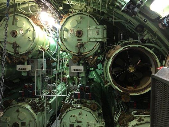 Langeland, Dinamarca: Stanowisko torpedowe na okręcie podwodnym.