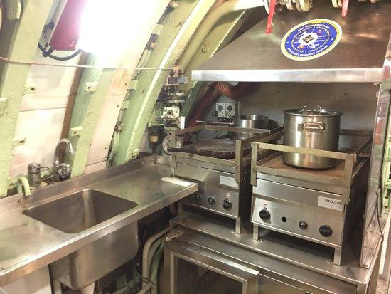 Langeland, Denmark: Okręt podwodny - kuchnia.
