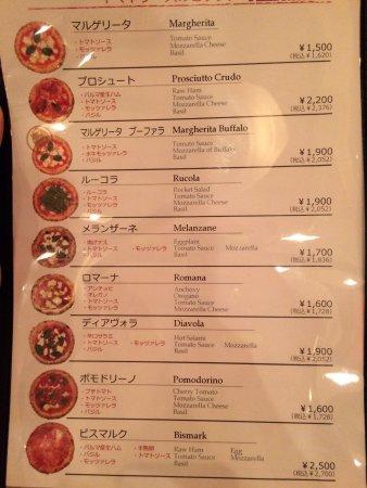 Isolina: Carte pizza