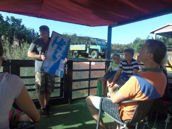 St Lucia, Republika Południowej Afryki: Explicaciones al inicio del tour