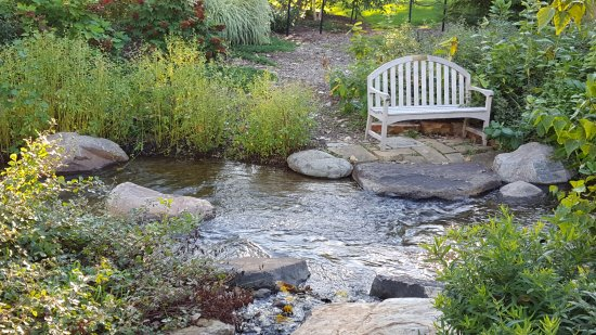 Elkhart, IN: A beautiful spot to sit and enjoy the stream.