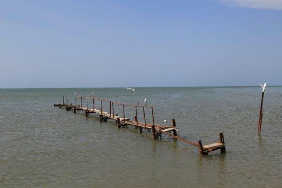 Mannar, Sri Lanka: Small broken bridge