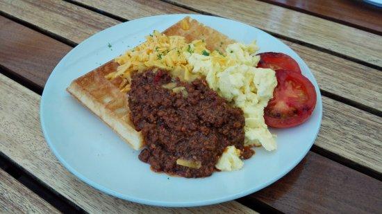 Ramsgate, Sudáfrica: Mince Breakfast Waffle