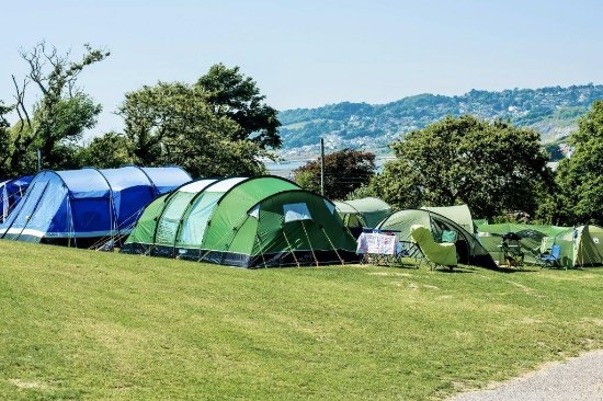 Charmouth, UK: Camping field