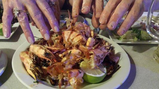 Mezepolis Kebab & Tavern : Grilled prawn aftermath!!!