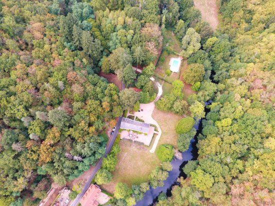 Domaine De La Brugere : Domaine de la Brugère vu du ciel