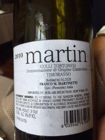 Govone, Italien: Timorasso grape. Very good wine
