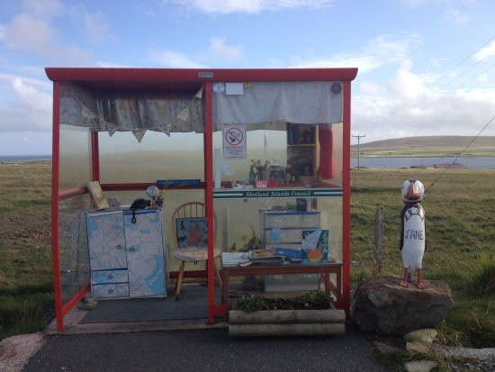 Baltasound, UK: Nearby attraction - Bobby's Bus Shelter