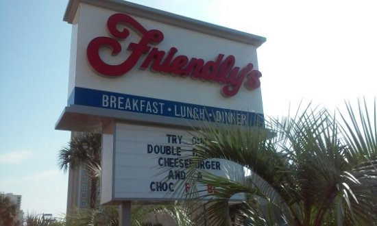 Friendly's: Sign out front