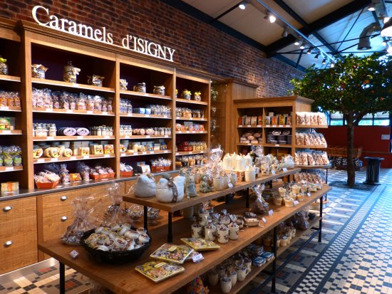 Isigny-sur-Mer, Francia: Rayon Caramels aux Halles d'Isigny