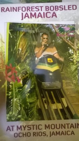 Rainforest Bobsled Jamaica at Mystic Mountain: During the ride I video taped the entire duration