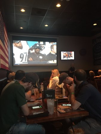 Big Whiskey's American Restaurant & Bar: Back room they set up for us Steeler fans!