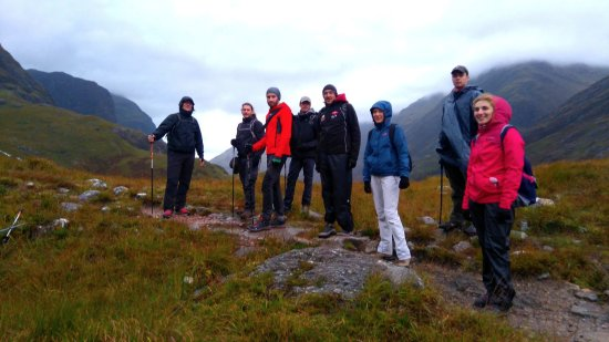 Kinlochleven, UK: All our team in Glencoe for an unbelievable day in a beautiful place !