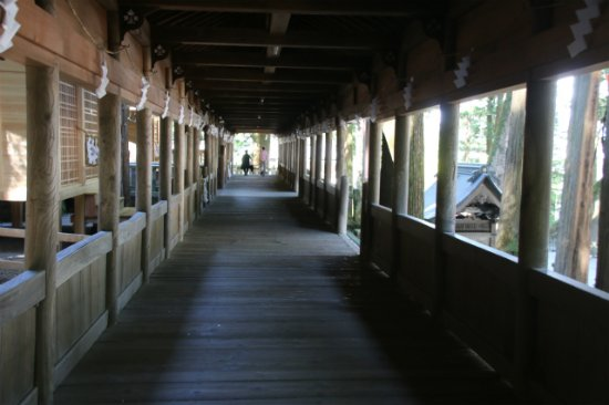 Suwa Shrine: very beautiful aisle to the shrine