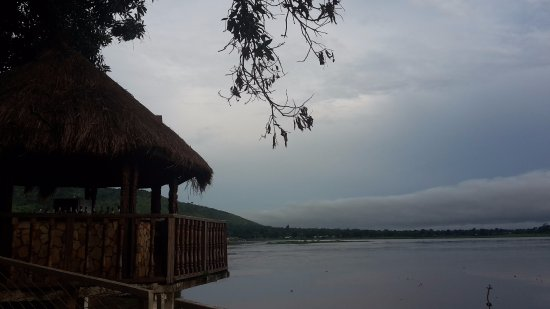 Central African Republic: Oubangui river from Oubangui hotel
