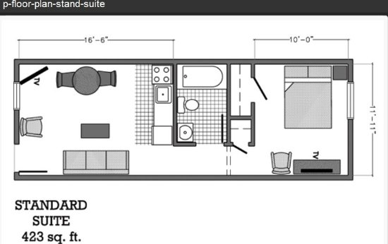 Kannapolis, Carolina del Norte: Floor Plan -Standard Suite