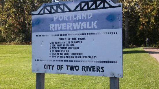 Portland, MI: Sign describing the rules