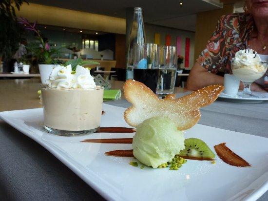 Kloten, Sveits: Hans im Glück, Terrasse und Lust