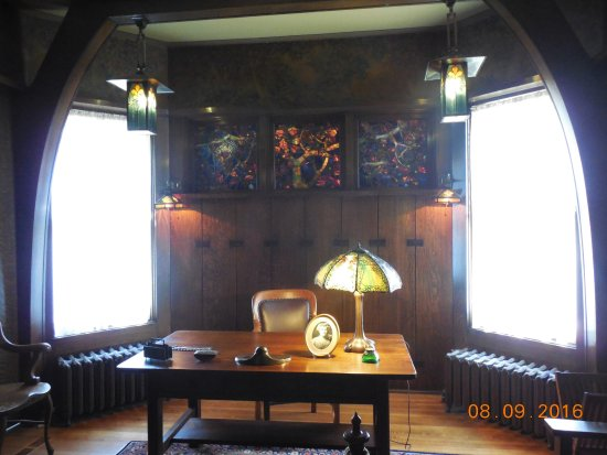 Wausau, WI: Cyrus Yawkey's home office, looks like the inside of a ship.
