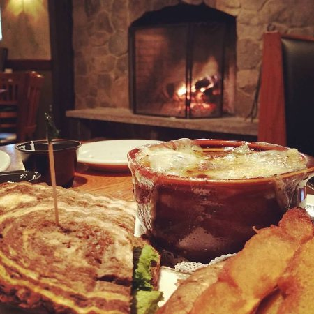 Merrimack, NH: Soup and sandwich (favorite combinations) by the fire! Amazing food and atmosphere!