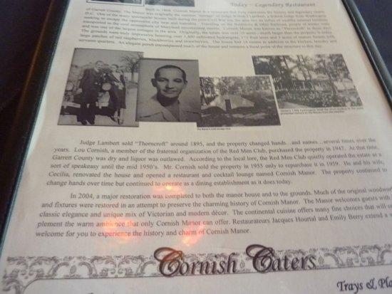 Cornish Manor Restaurant: Cornish Manor