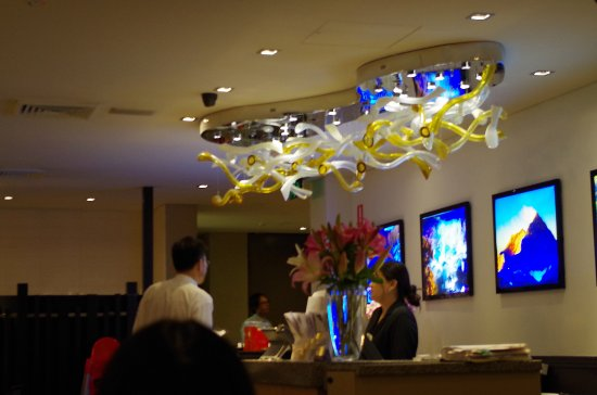 Modern decoration inside the restaurant - Picture of Crown Dragon ...