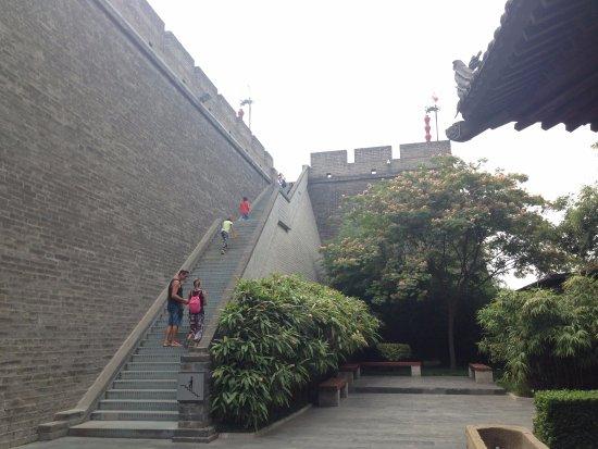 Xi'an City Wall (Chengqiang): The City Wall Staircase