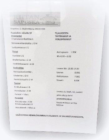 Mikkeli, Finlandia: Riitan Sapuska