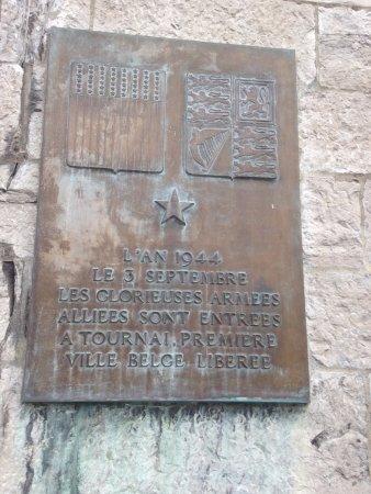 Tournai, Belgien: Plaque mémorial