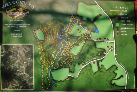 Ridgeway, VA: Trail Map