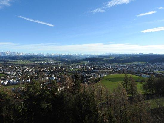 Wil, Schweiz: Bergkette des Toggenburgs