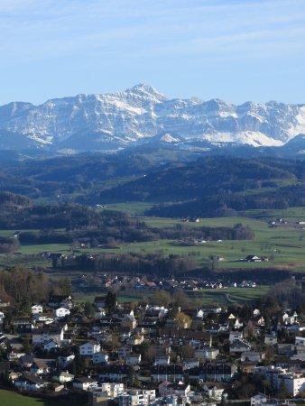 Wil, Schweiz: Säntis und Churfirsten