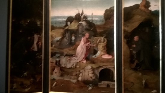 Gallerie dell'Accademia: triptych by Hieronymous Bosch