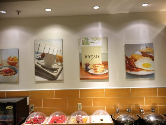 SpringHill Suites Corona Riverside: Setting an expectation of what breakfast consists of......