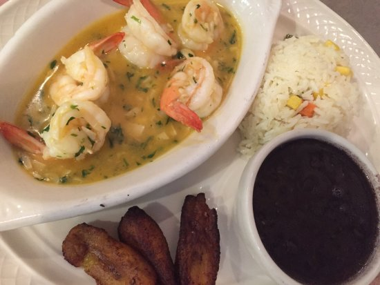 Oakland Park, FL: Garlic Shrimp with black beans & rice