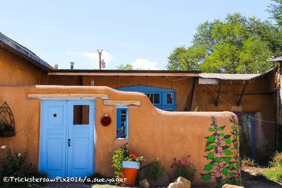 Ranchos De Taos, NM: Required blue door photo of NM