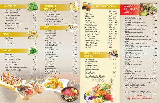 Lima, OH: our to go menu