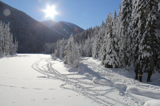 Manning Park, Canadá: Snowshoeing at Lightning Lake