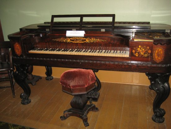Altoona, PA: Beautifully Decorated Piano from around 1850