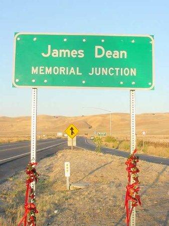James Dean Memorial: Local exato do acidente