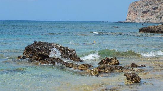 Falassarna, Grekland: snorkley