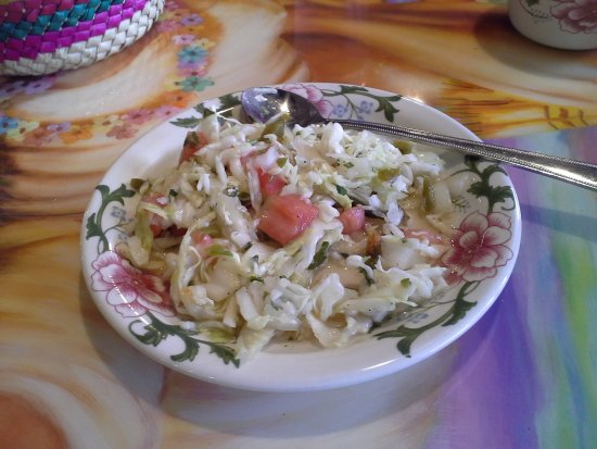 Oroville, WA: Pickled jalapenos and cabbage.